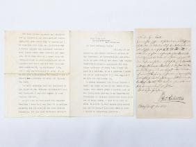 2 LETTERS INCL SIGNED/TYPED LETTER GERTRUDE ATHERTON