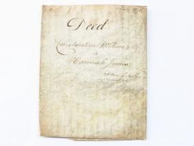 RARE INDENTURE-DEED FOR CONSTANTINE WILKINS, 1776