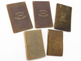 """5 VOLS. CONNECTICUT BLUE LAWS OF 1650, """"KANSAS"""" 1856"""