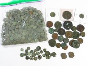 LARGE LOT ASSORTED ROMAN BRONZE COINS B.C.