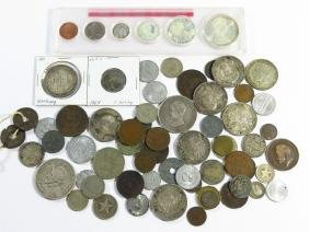 LOT ASSORTED FOREIGN COIN INCL. SILVER