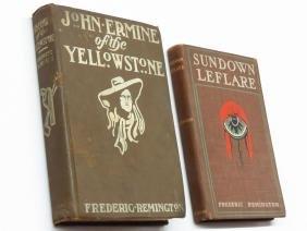 "2 ""JOHN  ERMINE"" FREDERIC REMINGTON 1902, ""SUNDOWN…"