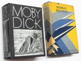 """2 VOL """"MOBY DICK"""" H. MELVILLE, ROCKWELL KENT 1930,"""