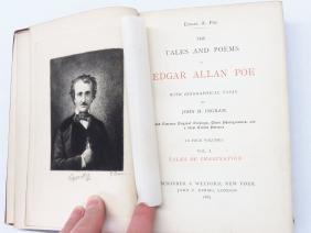 (4) EDGAR ALLAN POE TALE JOHN INGRAM 1885 DELUXE ED.