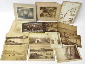 ASST CABINET CARDS; COUNT MAGRI, PENN RAILROAD, HOTEL,