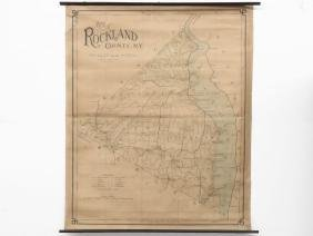 WALL MAP ROCKLAND CO. NEW YORK 1900