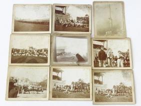 (9) VINTAGE CABINET CARD BASEBALL PHOTO'S 19/20TH C.