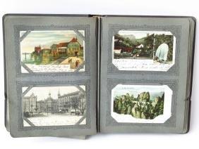 VINTAGE EURO. POST CARD ALBUM C. 1902