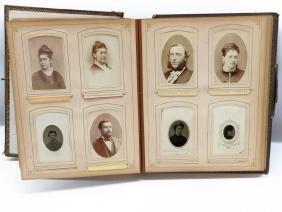 VICTORIAN PHOTO ALBUM W/R.E. LEE IN UNIFORM 1865