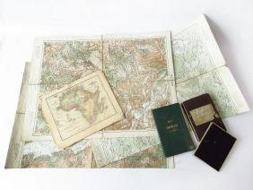 LOT (3) WWII GERMAN FLIGHT MAPS C. 1940