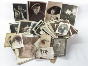 LOT AUTOGRAPHED CABINET CARDS/PHOTOS 19/20TH C.