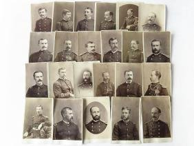 22 VINTAGE CABINET CARDS USA MILITARY LIEUTS. 1890
