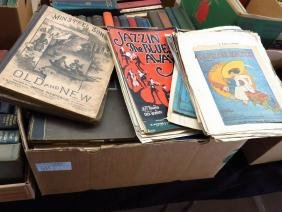 BOX LOT SHEET MUSIC