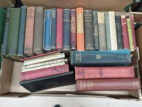 BOOK LOT ASSORTED REFERENCE & NOVELS
