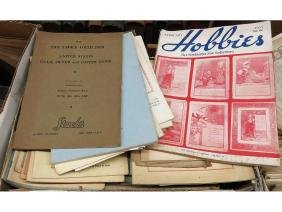 3 BOXES ART REF. BOOKS AMERICAN BOOK AUCTION, COINS
