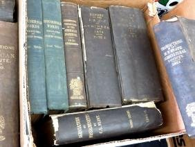 2 BOXES BOOKS REPORT OF THE CHIEF OF ENGINEERS, ETC