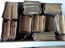 BOOK LOT EARLY LEATHERBOUND RELIGIOUS VOLUMES