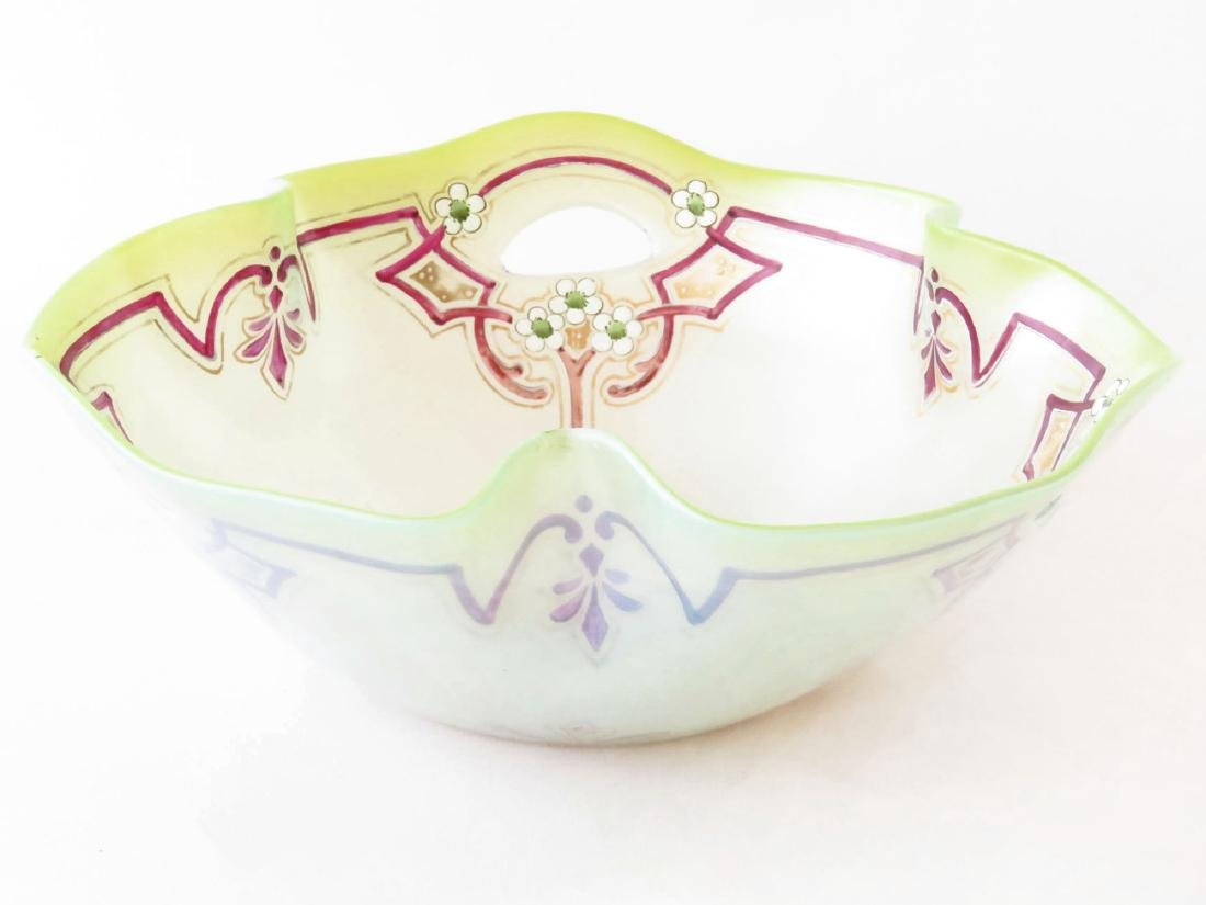 FRENCH ENAMELED/OPALESCENT SHOW BOWL 19TH C.