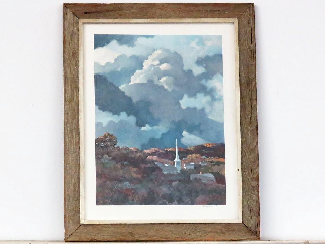 PRINT, SIGNED ERIC SLOANE, AUTUMN IN NEW ENGLAND