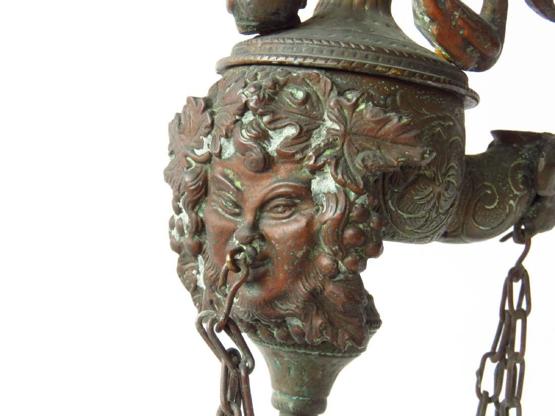 ROMAN GRAND TOUR BRONZE FLUID LAMP 19TH C. - 2