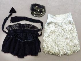 LOT (3) INCL. VINTAGE FLAPPER SKIRT, FRENCH MAID