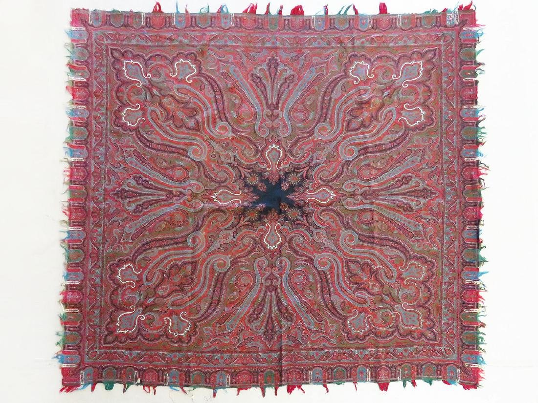 FINE EARLY PAISLEY CASHMERE SHAWL 19TH C.