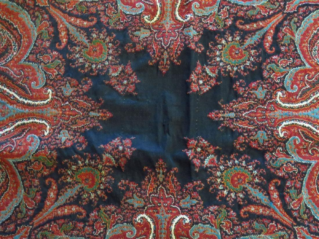 FINE EARLY PAISLEY CASHMERE SHAWL 19TH C. - 4