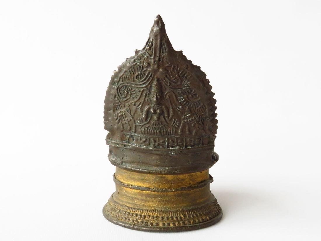 INDIA GILT BRONZE FLUID LAMP 19TH C. - 3