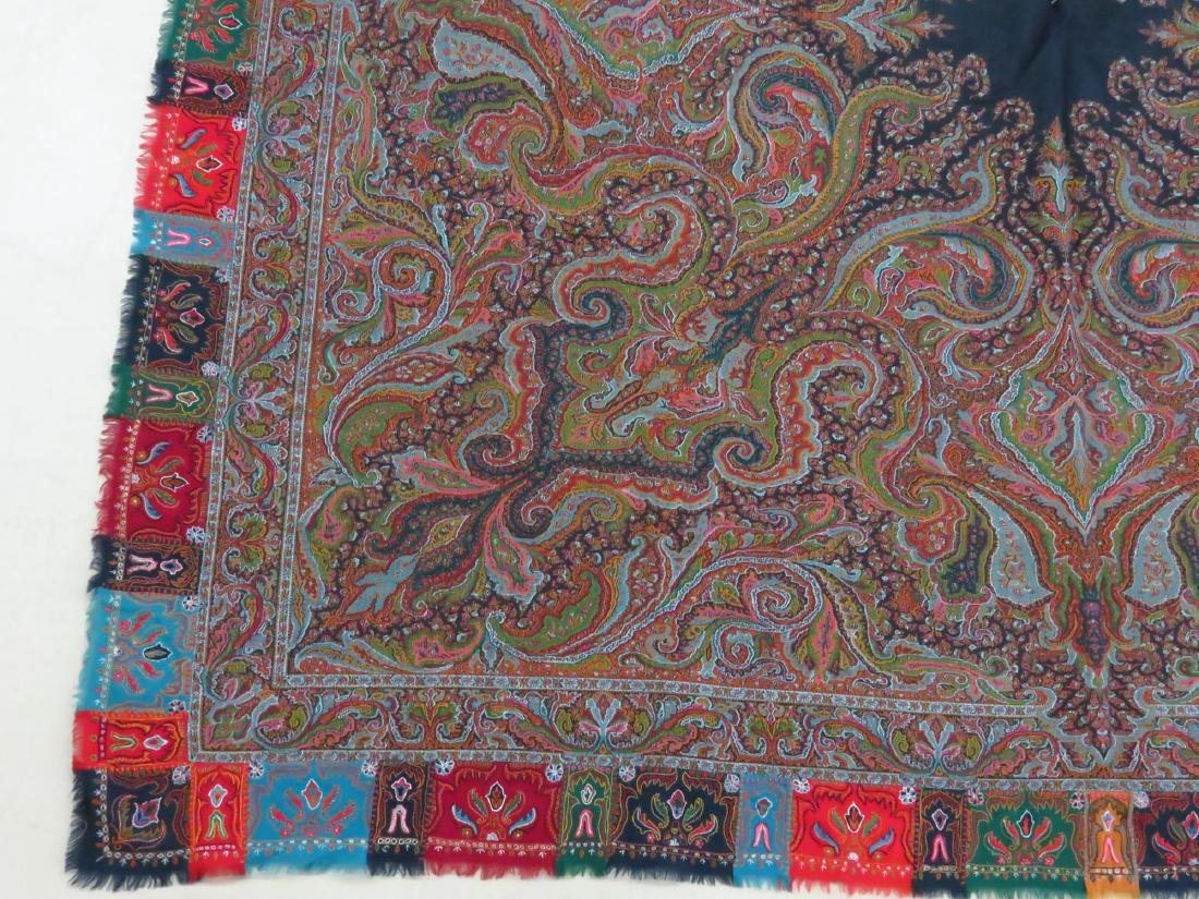 FINE/EARLY PAISLEY CASHEMERE SHAWL 19TH C. SIGNED - 2
