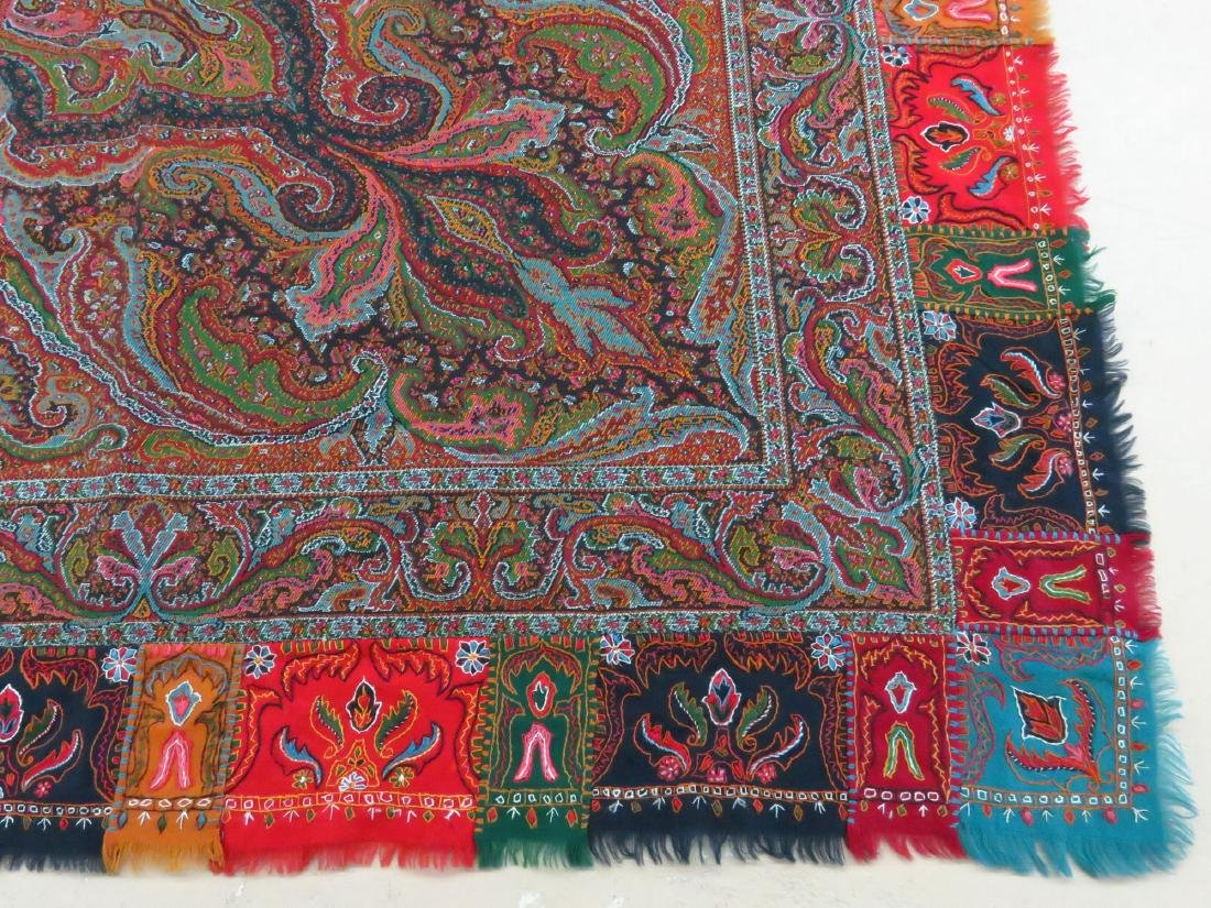 FINE/EARLY PAISLEY CASHEMERE SHAWL 19TH C. SIGNED - 3