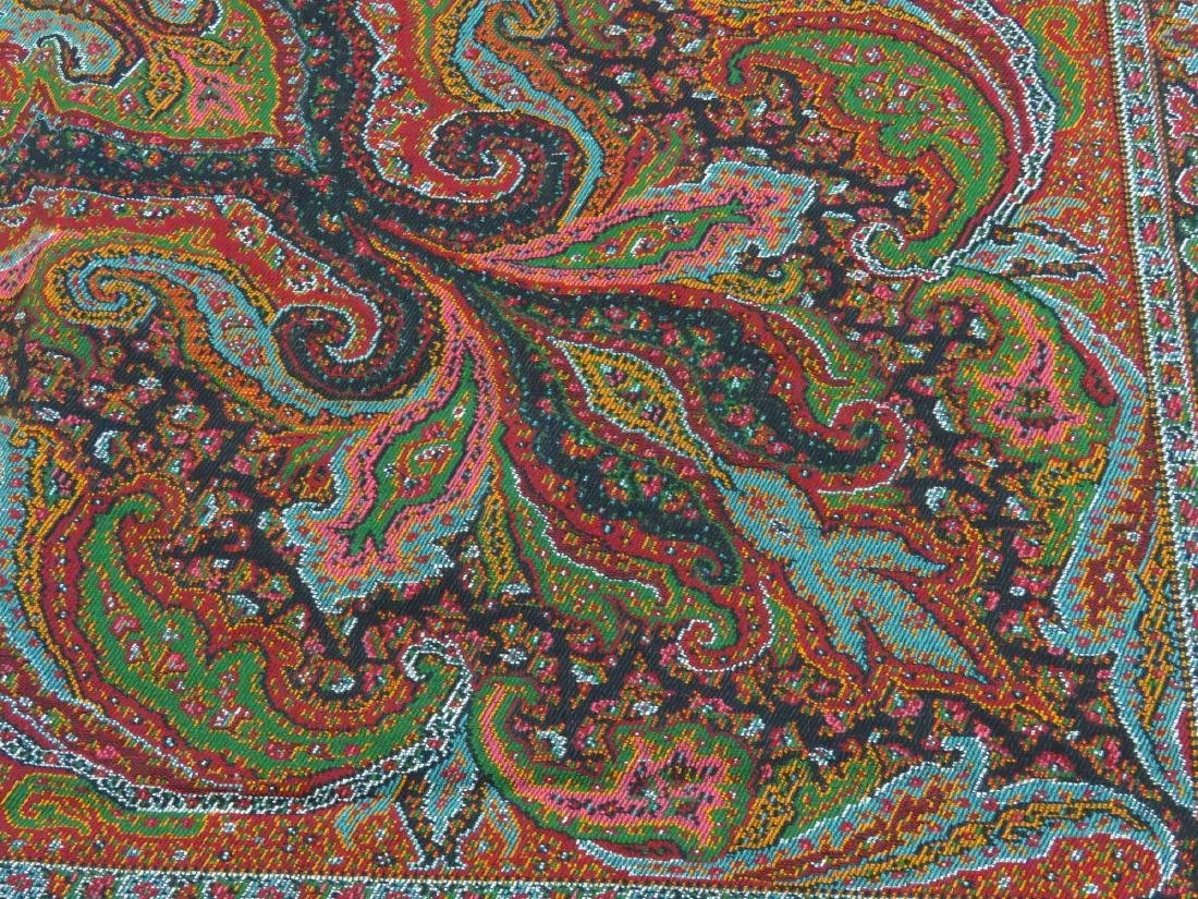 FINE/EARLY PAISLEY CASHEMERE SHAWL 19TH C. SIGNED - 5