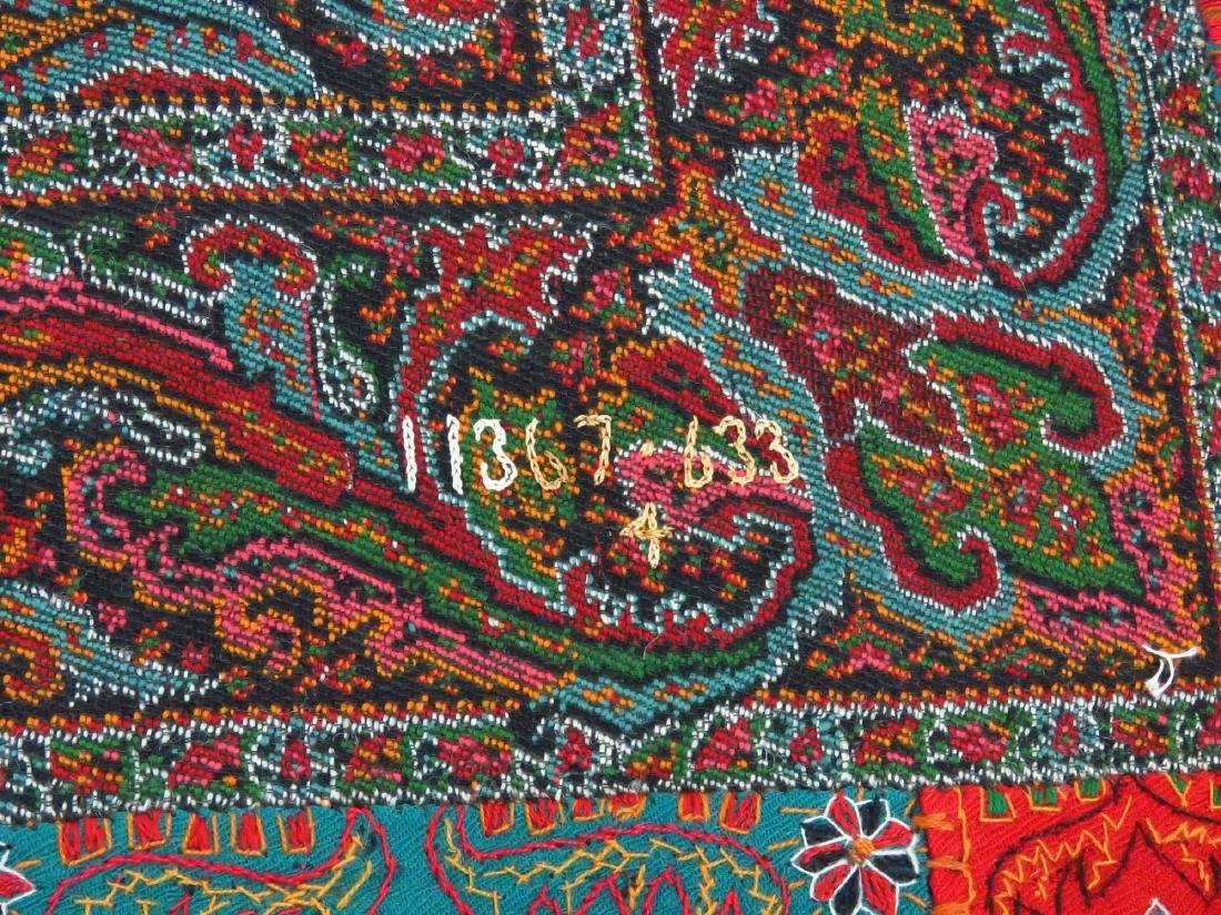 FINE/EARLY PAISLEY CASHEMERE SHAWL 19TH C. SIGNED - 8