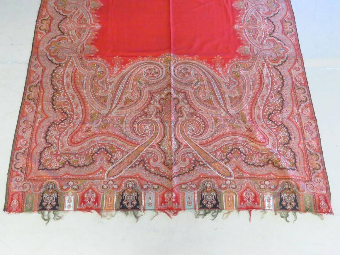 VINTAGE FINE EARLY PAISLEY CASHMERE SHAWL - 2