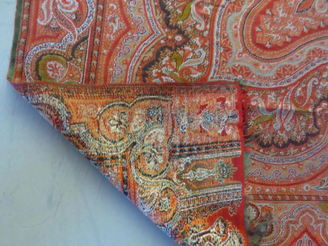 VINTAGE FINE EARLY PAISLEY CASHMERE SHAWL - 5