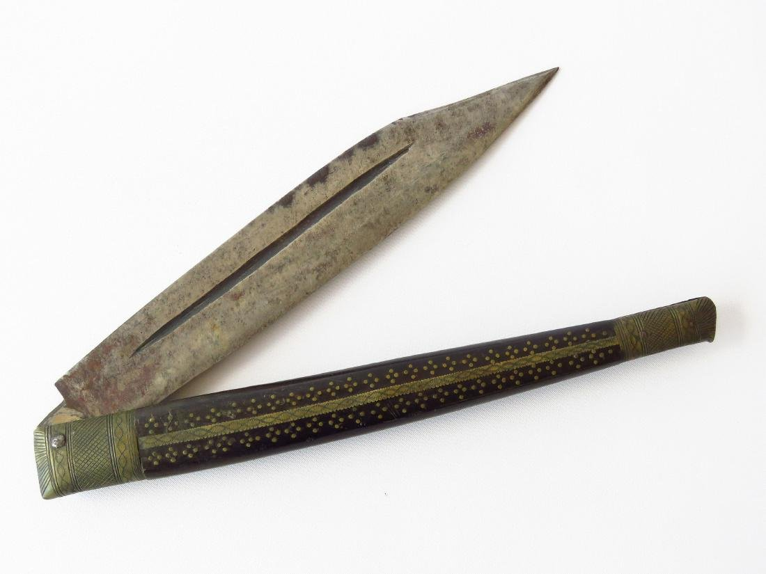 OVERSIZED ANGLO-INDIAN FOLDING KNIFE 19TH C.