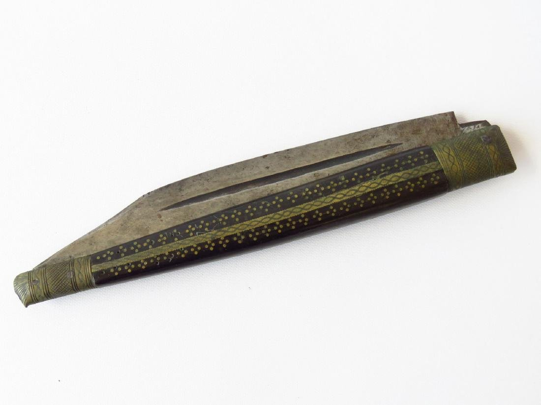 OVERSIZED ANGLO-INDIAN FOLDING KNIFE 19TH C. - 3