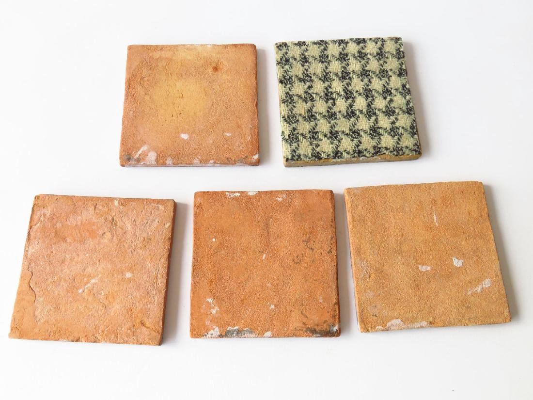 LOT (5) EARLY H/P DELFT TILES 18/19TH C. - 3