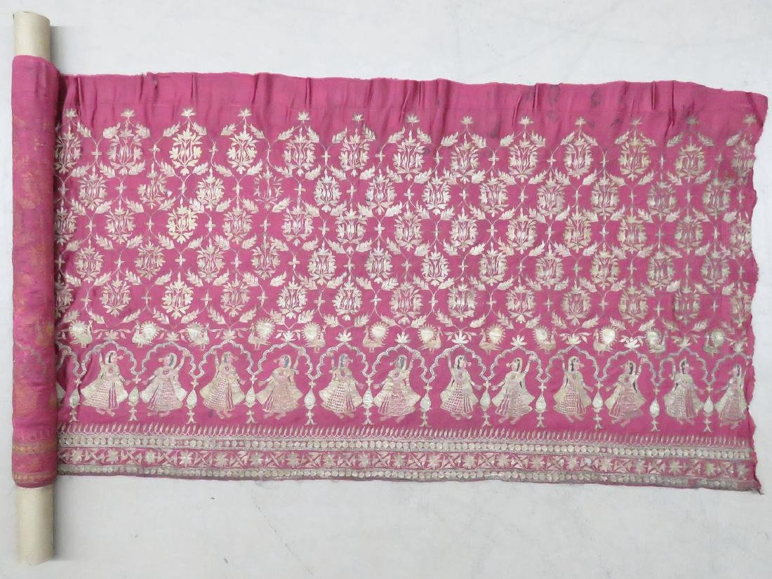 FINE INDIA SILVER/SILK METALLIC THREAD PANEL