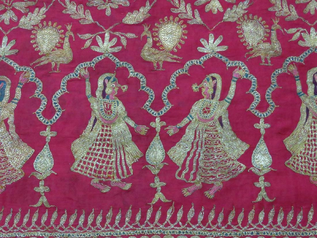 FINE INDIA SILVER/SILK METALLIC THREAD PANEL - 2