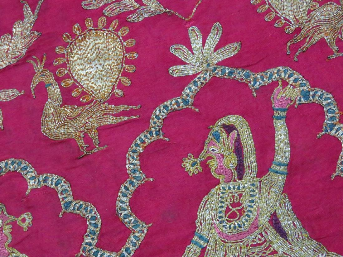 FINE INDIA SILVER/SILK METALLIC THREAD PANEL - 3
