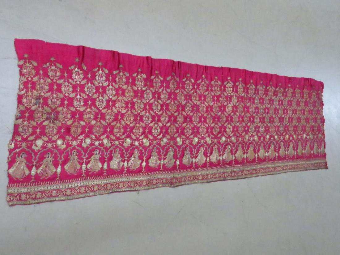 FINE INDIA SILVER/SILK METALLIC THREAD PANEL - 6