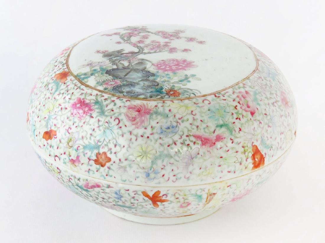 CHINESE CHING LUNG FAMILE ROSE COVERED DRESSER BOX