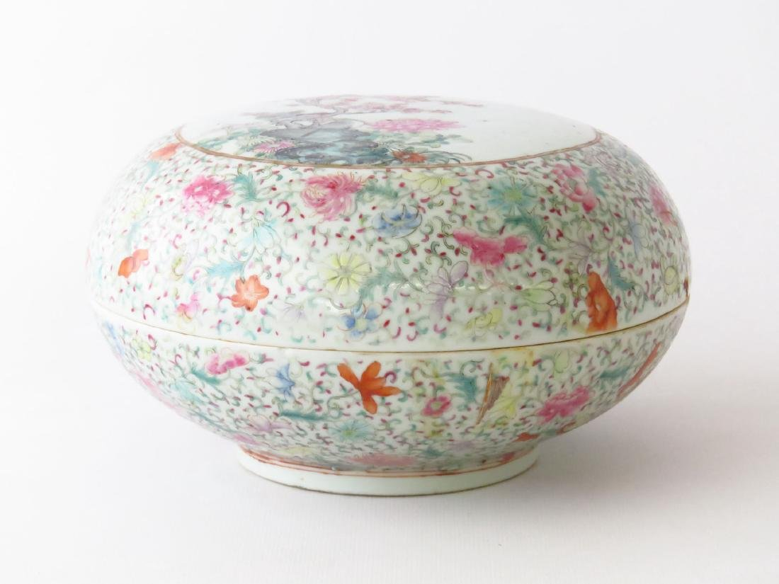 CHINESE CHING LUNG FAMILE ROSE COVERED DRESSER BOX - 2