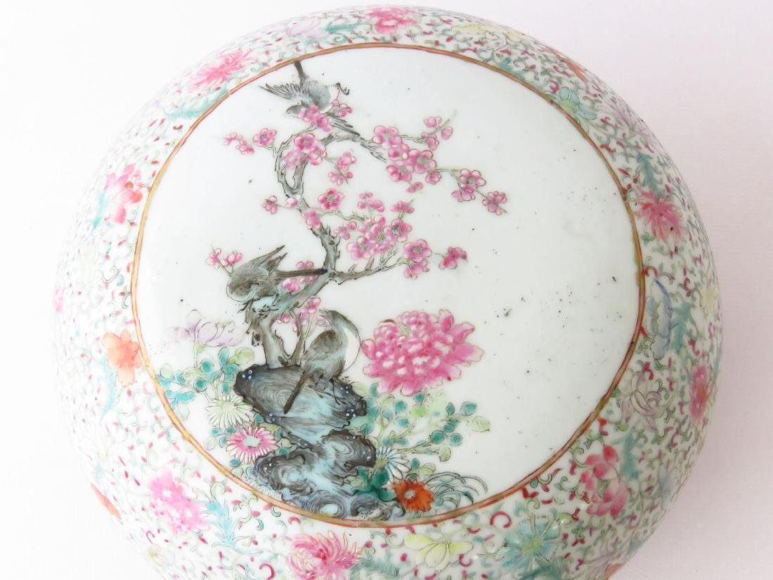CHINESE CHING LUNG FAMILE ROSE COVERED DRESSER BOX - 3
