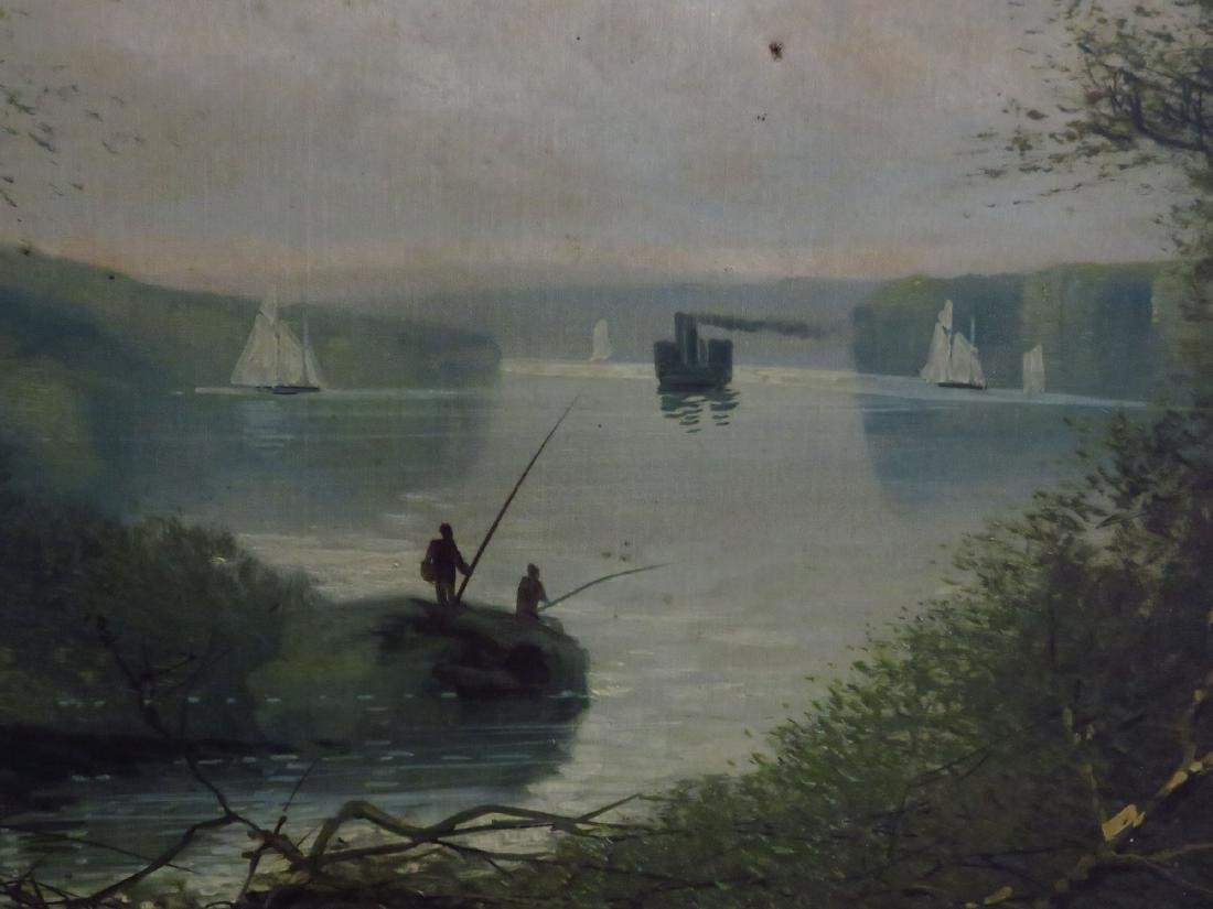 O/C HUDSON RIVER VIEW SIGNED A. CROPSY 19TH C. - 3