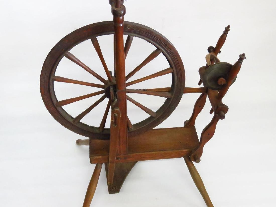 COUNTRY SPINNING WHEEL 19TH C. - 4