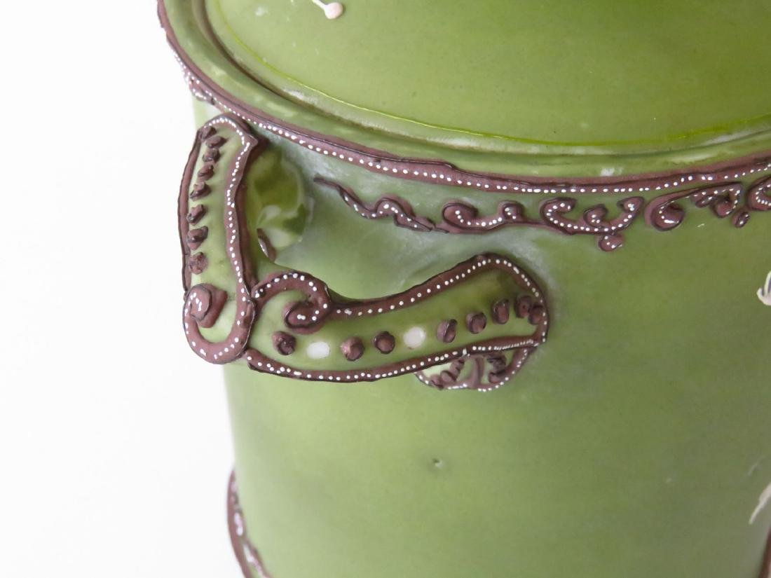 """NIPPON """"DANCING FROGS"""" PORCELAIN HUMIDOR 20TH C. - 6"""
