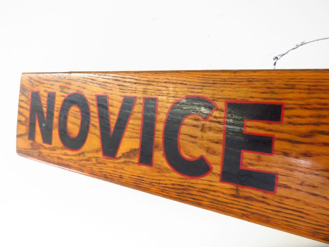 "PAINTED WOOD SIGN ""NOVICE VILLAGE"" C. 1940 - 2"