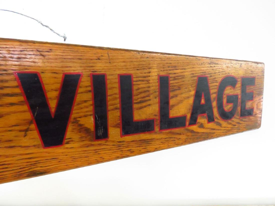"PAINTED WOOD SIGN ""NOVICE VILLAGE"" C. 1940 - 3"