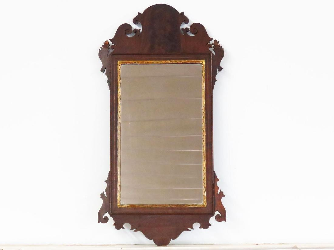 CHIPPENDALE MAHOGANY WALL MIRROR 18/19TH C.